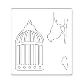 FUSTELLA CAGED BIRD