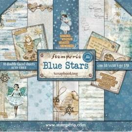 CARTE DA SCRAP 30X30 BLUE STARS