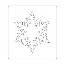 FUSTELLA LAYERED SNOWFLAKE