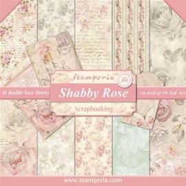 BLOCCO 10 FOGLI SHABBY ROSE
