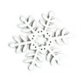 SNOWFLAKE GRANDE LEGNO GLITTERATO