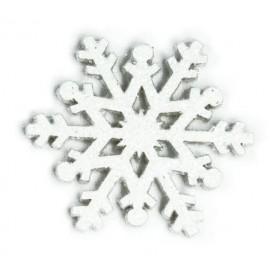 SNOWFLAKE PICCOLO LEGNO GLITTERATO