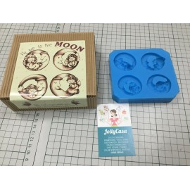 STAMPO SILICONE S/4 MOON